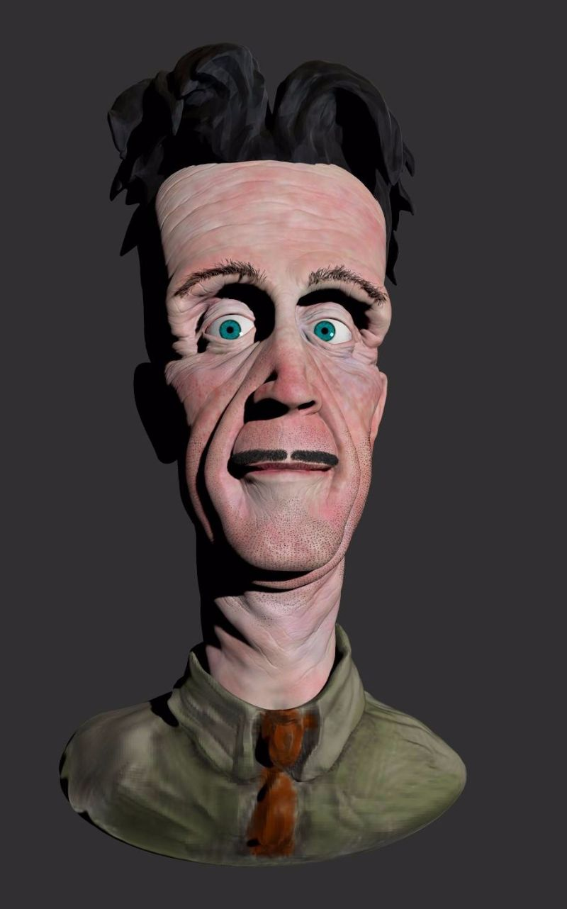 george orwell 3d model zbrush
